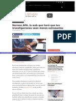 Normas APA, La Web Que Hará Que Tus Investigaciones Sean Menos Estresantes