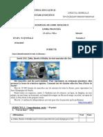 2015 Franceza Nationala Clasa a Viia Intensiv Proba Scrisa Subiectebarem
