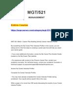 MGT 521 MGT521
