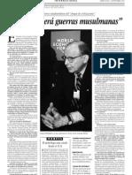 Entrevista a Samuel Hunting Ton. El Siglo Traer%A0 Guerras Musulmanas