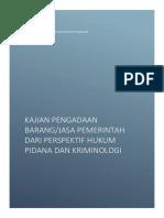 Laporan Kajian Korupsi Pengadaan Dan Rekomendasi Sanksi