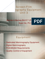 Unit 3 - Mammography Equipment