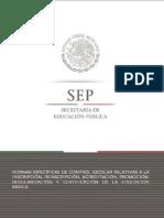 Normas Específicas de Control Escolar 2015-2016 Correspondientes a Alumnos Con NEE
