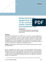 Determing the beginning and end of an occupation under IHL
