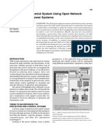 Protection and Control System Using Open Network Architecture for Power Systems