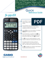 Fx-991EX Quick Reference Guide
