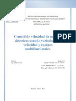 Control de Velocidad de Motores Eléctricos Usando Variadores de Velocidad y Equipos Multifuncionales