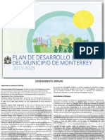 Plan de Desarrollo Urbano Monterrey 2013-2025