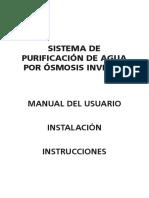 Manual Osmosis 61001