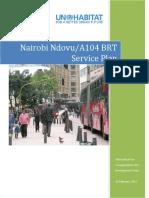 Nairobi Ndovu A104 BRT Service Plan
