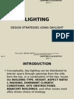 Daylighting Design Strategies
