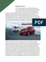 Honda Mobilio Terus Mengejar Toyota Avanza
