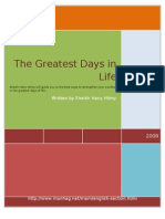 The Greatest Days in Life