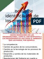 Proceso de Identificación de Los Proyectos de Inversión