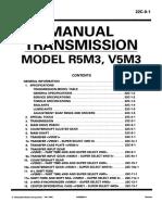 Manual Transmission r5m3-V5m3 Pwee8914-Abcdefghi 22c