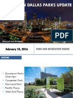 Downtown Dallas Parks Update