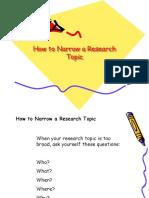 narrow topic
