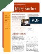 Sanchez Fall Winter 2015 Newsletter