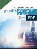 Rapport sur la situation de l'emploi chez les jeunes avocats du Québec