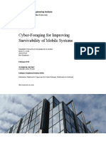 Cyber-Foraging for Improving Survivability of Mobile Systems