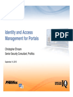 Identity and Access Management for Portals