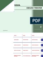 CBX 250 Twister - Catalogo de Peças