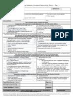 bill 157 incident reporting form - part i  feb2013