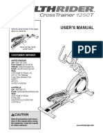 Healthrider 1250 User Manual