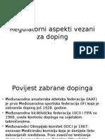 Regulatorni Aspekti Vezani Za Doping