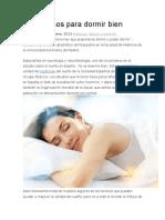 Los 8 Pasos Para Dormir Bien