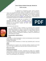 Características Técnico Productivas de papa, maca, mashua y maiz