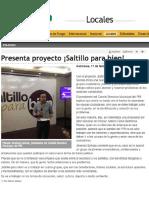 16-02-17 Presenta Proyecto ¡Saltillo Para Bien