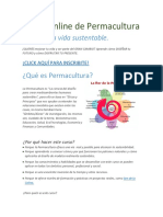 Curso de Diseño con Permacultura - Online