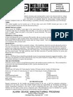 Honeywell 470-12 Installation Manual