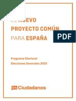 Programa electoral Ciudadanos 2015