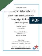 Matthew Silver Stein Kickoff Invite
