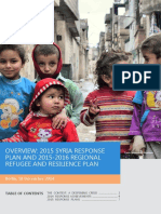 Overview of 2015 Response Plans for Syria Crisis Final