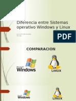 Diferencia Entre Sistemas Operativo Windows y Linux