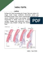 Tracheaoesophageal fistel