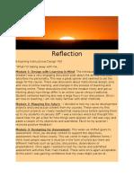 reflection for portfolio