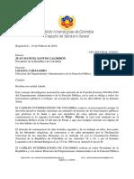 Carta Presidencia de la República y Dpto. Admin. Función Pública