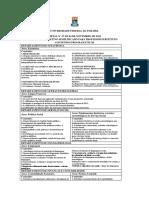 CONTEÚDOS PROGRAMÁTICOS - EDITAL N°57 DE 04 DE NOVEMBRO DE 2015