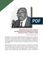 Nicomedes Gamarra Represetante de la Negritud en el Peru