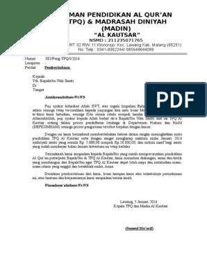 Contoh Surat Pemberitahuan Spp
