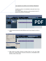 Cómo exportar un audio en Nuendo