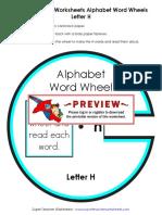 Alphabet Wordwheel h phonics