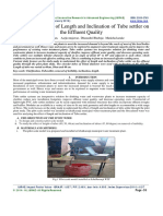 Study of the Effect of Length and Inclination of Tube settler on the Effluent Quality