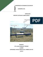 Reporte Estación Climatologica