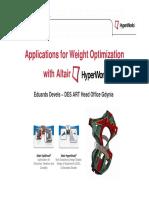 WeightOptimization With HyperWorks