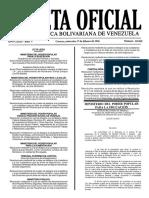 Gaceta Oficial Número 40.850 de la República de Venezuela, 17 de febrero de 2016